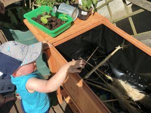 Gärtnern mit Kindern – Kristof ist fürs Grobe zuständig: Gartenschnitt gehört ins Hochbeet