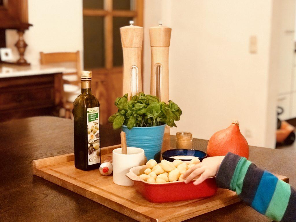 Gnocchi Auflauf mit Kürbis – Merlin probiert ungekochte Gnocchi