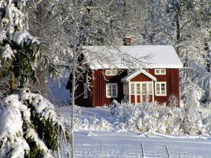 Ferienhaus in Schweden im Winter