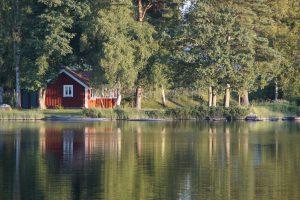 Blick auf Schwedenhaus vom See