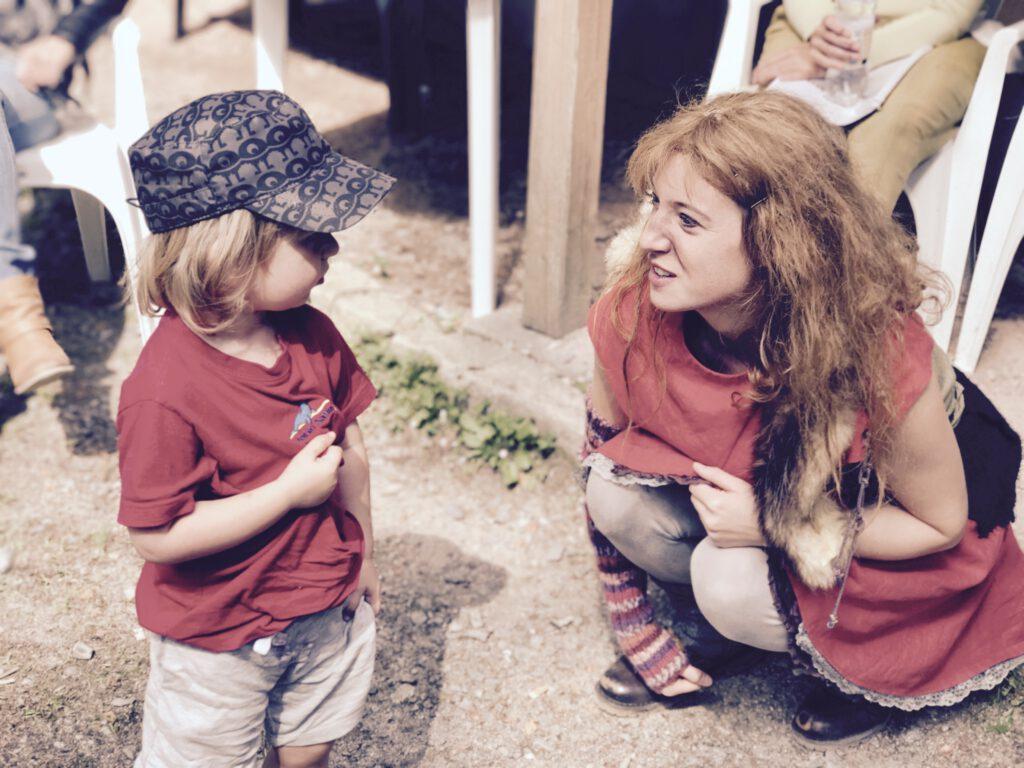 Merlin mit Ronja Räubertochter auf den Greifensteinen