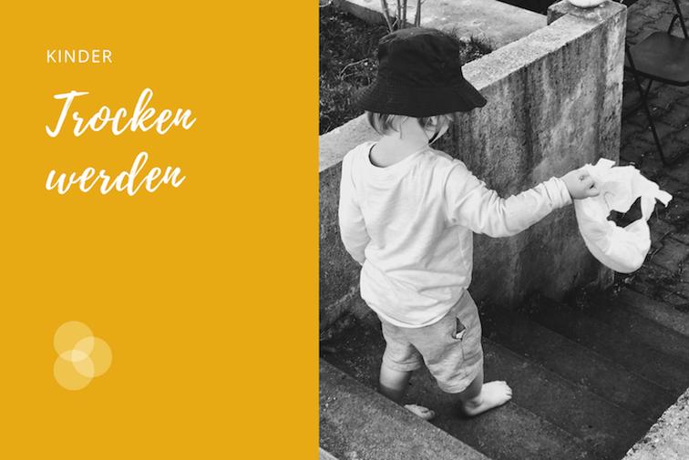 Trocken werden – Kind wirft letzte Windel weg