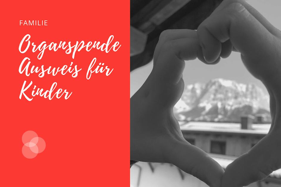 Organspendeausweis für Kinder – Kind formt Herz mit den Händen