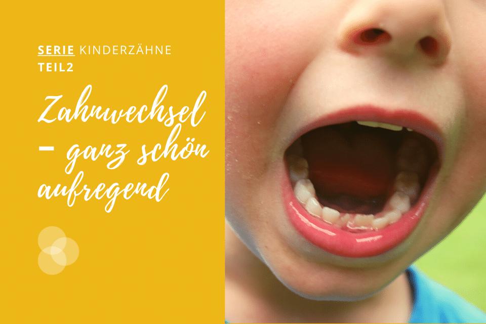 Zahnwechsel Kind mit offenem Mund
