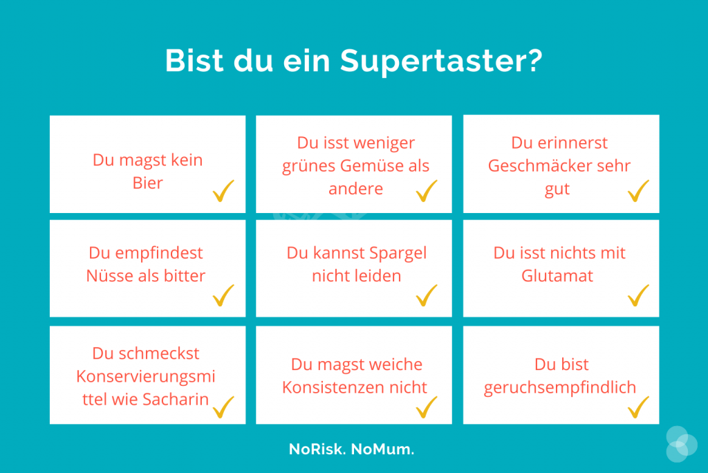 Supertaster – Hinweise, dass du einer bist