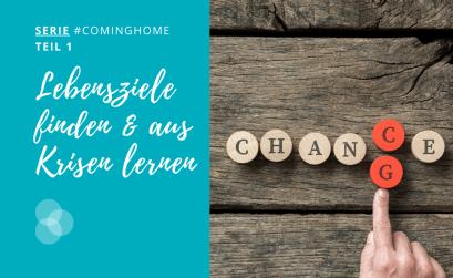 Lebensziele – Finger zeigt auf die Buchstabem c und g im Wort Change und Chance, die untereinander stehen