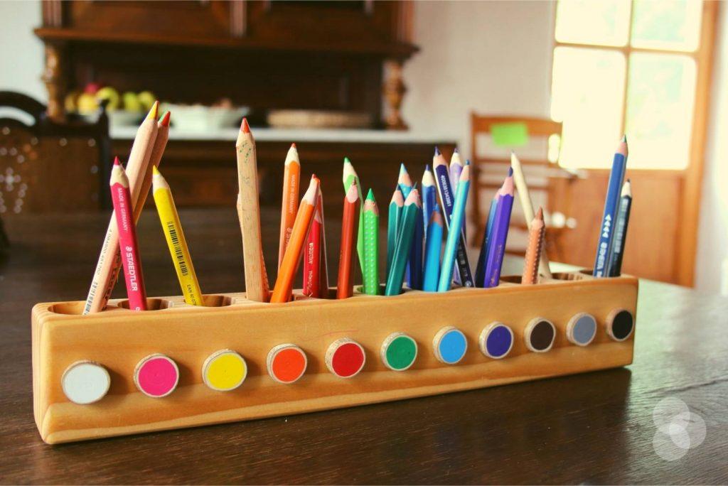 Kinderzimmer Aufbewahrung – Stifthalter Montessori
