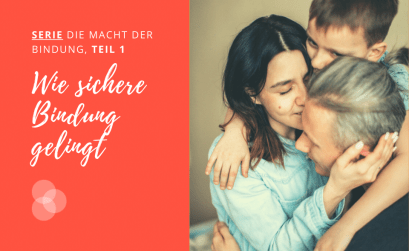 Bindung – Familie umarmt sich